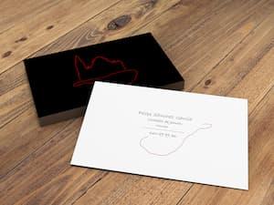 Presentación de tarjeta de visita de cortador de jamón
