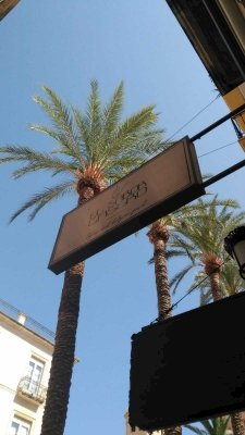 Exterior sign of the restaurant.